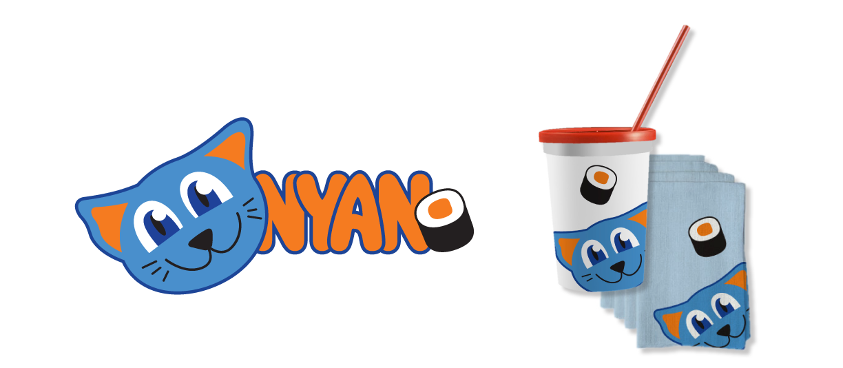 Nyan Sushi is a sushi restaurant targeting a younger audience.