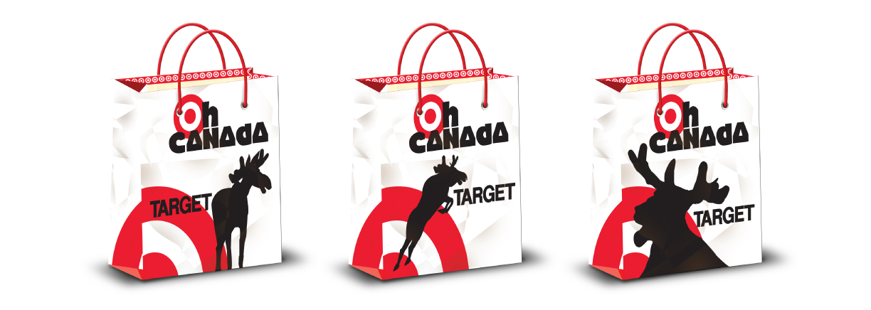 Bag designs for Target for when they came to Canada.